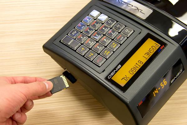 Kasa fiskalna Posnet Bingo XL - Zapisuje kopie paragonów na karcie pamięci