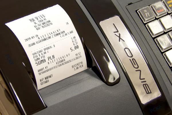 Kasa fiskalna Posnet Bingo XL - Drukuje NIP klienta na paragonie